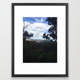 Rolling hills Framed Art Print