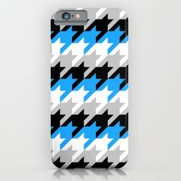 Neon Goth Houndstooth Pattern (Blue) iPhone Case