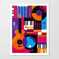 Music Mosaic Canvas Print