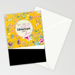 Librarian Glare Stationery Cards