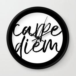 Carpe Diem Inverted Wall Clock