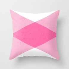 the pink triangles Throw Pillow