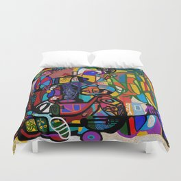 INSTRUCTION TO THE BELIEVERS: DREAM OF TRAINS (NO REST FOR THE WEARY) Duvet Cover