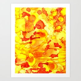Alien Yellow Art Print