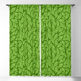 V.19 - Striated Leaves - Lemon Green Foliage Blackout Curtain