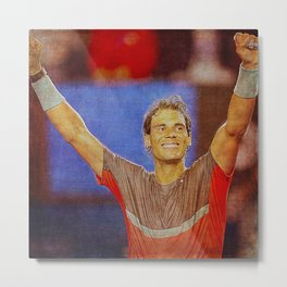 Nadal Tennis Happy Metal Print
