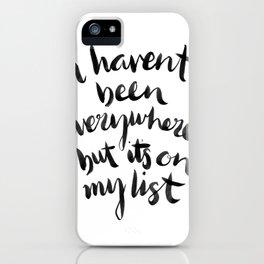 Wonderlust iPhone Case