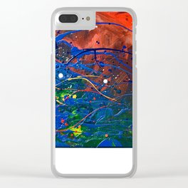 No 4, Pollock like abstract, NYC artist Clear iPhone Case