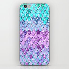 Mermaid Scales with Unicorn Girls Glitter #9 #shiny #decor #art #society6 iPhone Skin