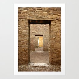 Chaco Canyon, March 2007 Art Print