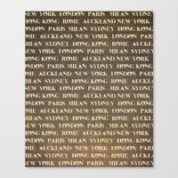 cities Canvas Prints featuring Cities by Linde Townsend