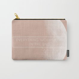 """Rose Moon """"Everything works out in the end"""" Carry-All Pouch"""