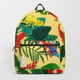 Nine Chameleons Hiding in the Tropics Backpack
