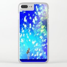 """""""Pastiche Takes Flight In Oz""""  by surrealpete Clear iPhone Case"""