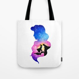 Jasmine Watercolor Double Exposure Aladdin Tote Bag