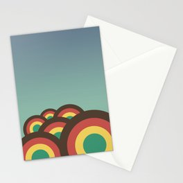 Foothills on warm blue - 70´s Stationery Cards