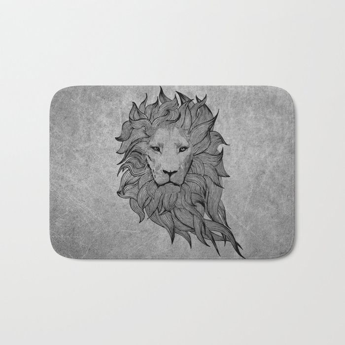 Grey Lion Bath Mat