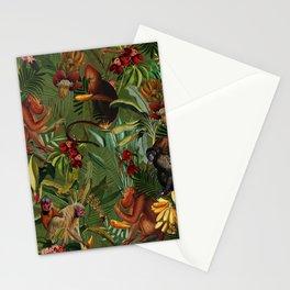 Vintage & Shabby Chic - Green Monkey Banana Jungle Stationery Cards