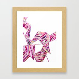 LINEA 011 Abstract Collage Framed Art Print