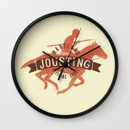 Let's go Jousting Wall Clock