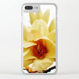 Butterfly Magnolia Clear iPhone Case
