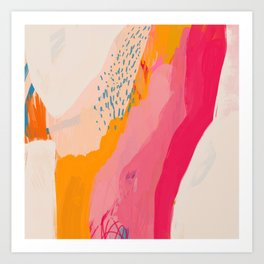 Abstract Line Shades Art Print