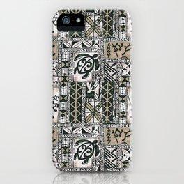 Hawaiian Honu Tapa Cloth iPhone Case