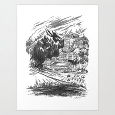River Copper Mine Art Print