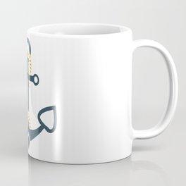 Anchor Ahoi Sailorboat marina Coffee Mug