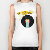 vampire weekend Biker Tanks featuring Vampire Weekend - Chicago by Luke Eckstein