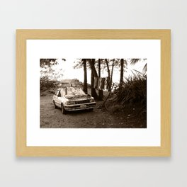 Sales Car Framed Art Print
