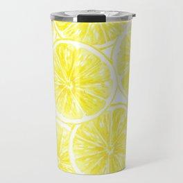 Lemon slices pattern watercolor Travel Mug