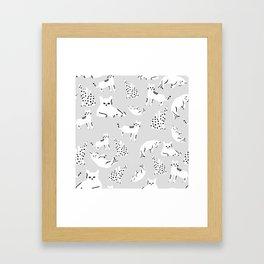Cats X Grey Framed Art Print