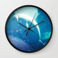 manatee Wall Clocks featuring Manatee by Emily