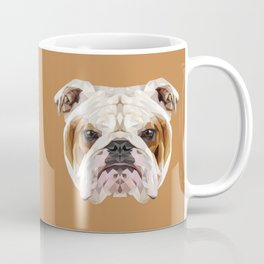 English Bulldog // Natural  Coffee Mug