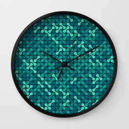 Metaballs Pattern (Teal) Wall Clock