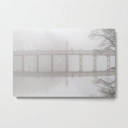 Waiting in the Fog Metal Print