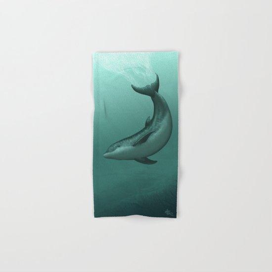 """Siren of the Lagoon"" by Amber Marine ~ Indian River Lagoon Bottlenose Dolphin Art, (c) 2015 Hand & Bath Towel"