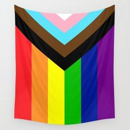 LGBTQ+ Pride Flag Inclusive (LGBTQ+ Pride, Gay Pride) Wall Tapestry
