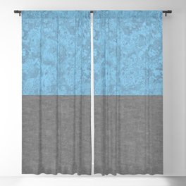 Blue Concrete and Marble Blackout Curtain