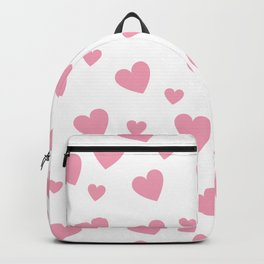 Hearts pattern - pink Backpack
