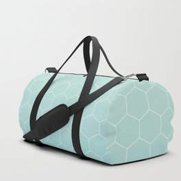 Cyan honeycomb Duffle Bag