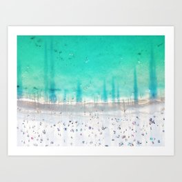 Shadow's at Coogee Art Print