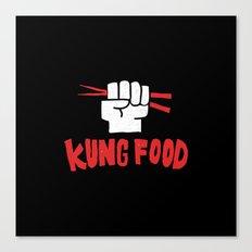 KUNG FOOD Canvas Print