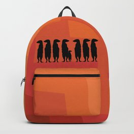 Meerkat design in sunset shades palette Backpack