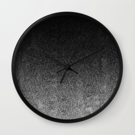 Silver & Black Glitter Gradient Wall Clock