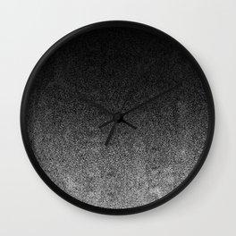 Silver & Black Glitter Gradient Wall Clock