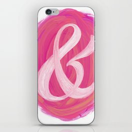 Thick Swirl Ampersand Warm iPhone Skin
