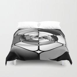Chromed black and white Duvet Cover