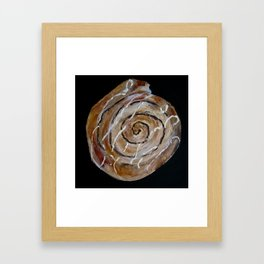 Cinnamon Swirl Bakery Still Life Acrylic Painting Framed Art Print